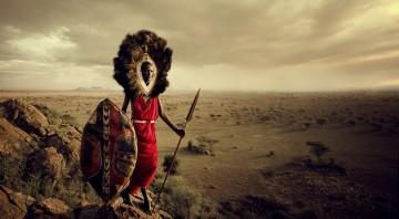 Maasai Warrior Lion
