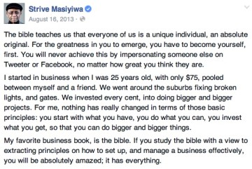 Strive Masiyiwa - Bible