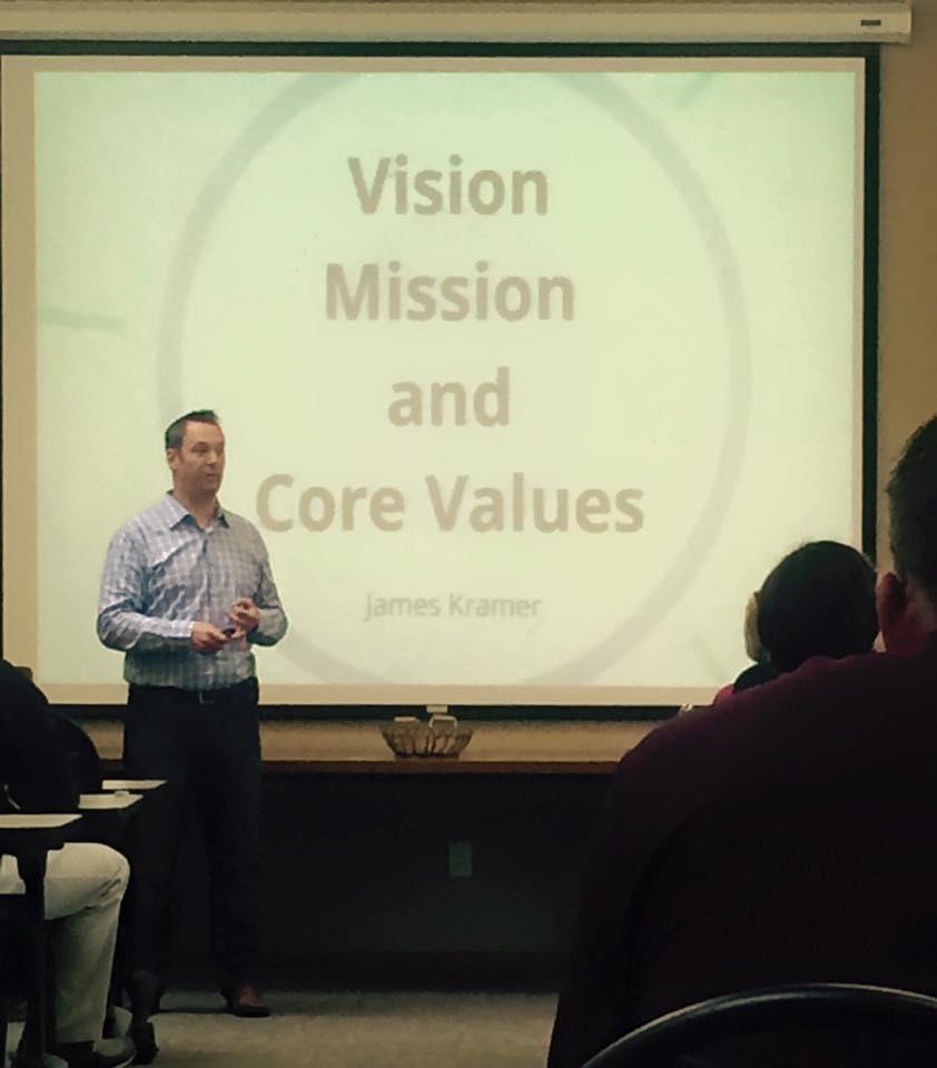 James Kramer, speaking at a leadership conference