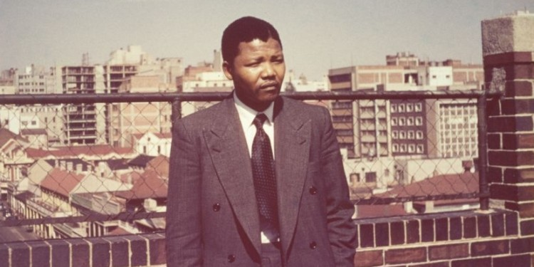 Picture of  Nelson Mandela in his youthful days.