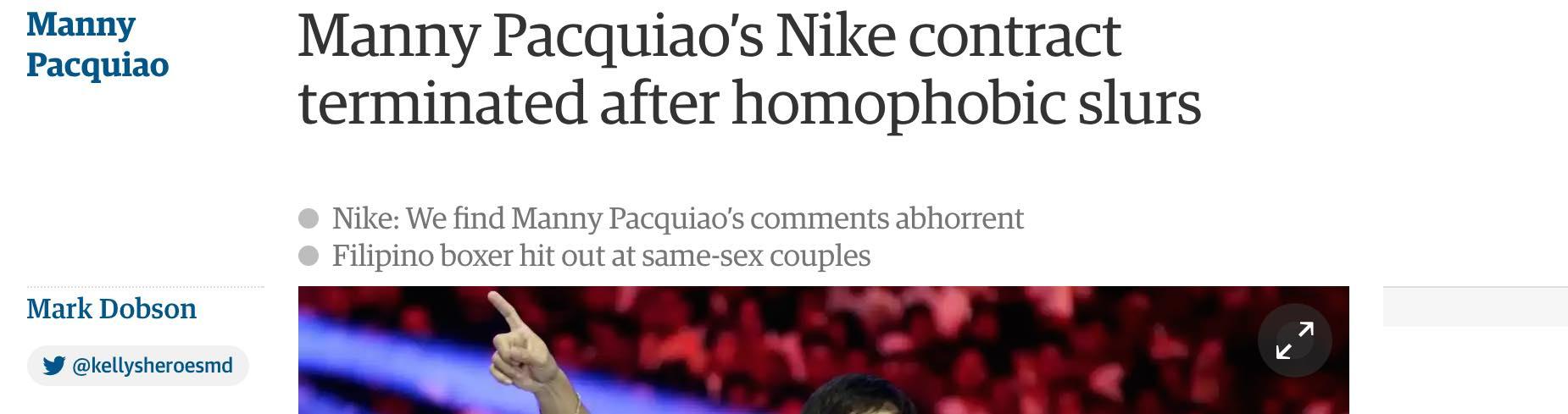 Manny Pacquiao - Cancel Nike