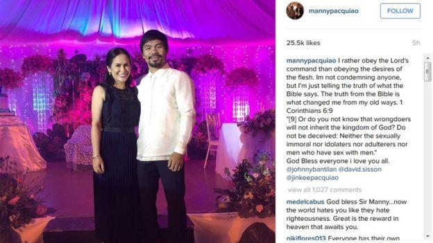 Manny Pacquiao - Instragram Christian