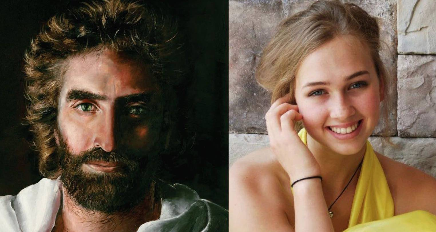 Lithuanian Girl Paints Picture Of Jesus