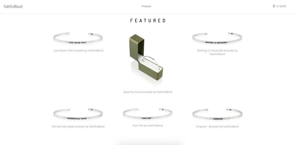 Christian bracelets shop - Faithfulband.com