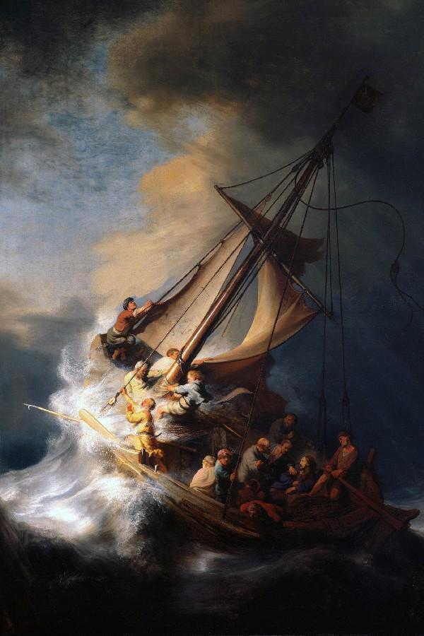 Christian Jesus ship poster